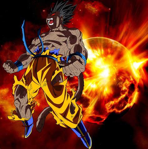 imagenes de goku ozaru goku oozaru explosion by elitesaiyanwarrior on deviantart