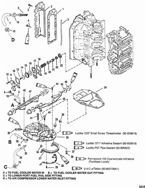 mercury marine v 150 hp dfi 2 5l exhaust manifold
