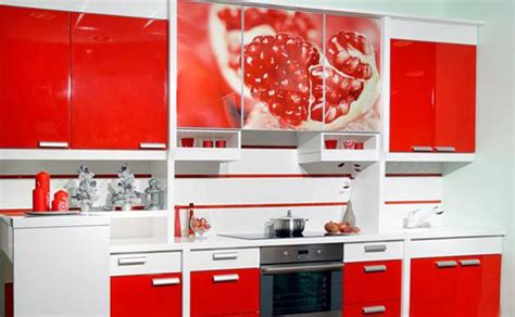 Kitchen Cabinets Wood Choices by 22 Ideas To Create Stunning Red And White Kitchen Design