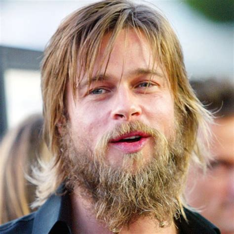 beard length vs hair length brad pitt beard 2018