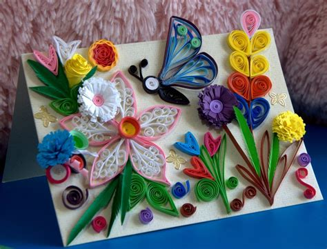 Paper Craft Work - beautiful butterfly paper quilling designs creative