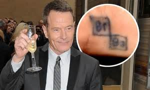 bryan cranston shows off his tiny commemorative inking at