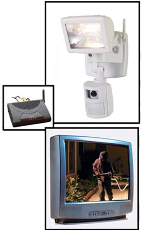 wireless security camera & floodlight system motion