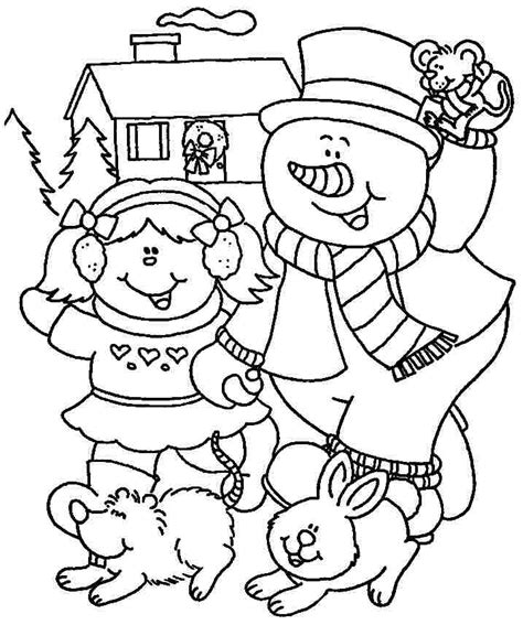 preschool coloring pages winter winter coloring pages for kindergarten coloring home