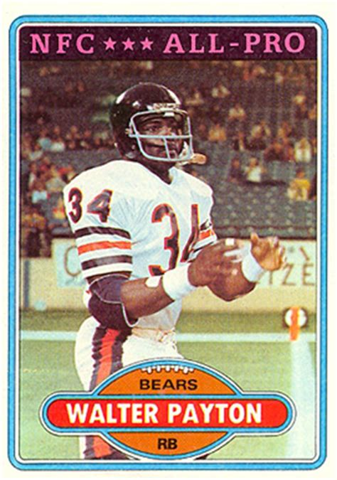 football cards value 1980 topps walter payton 160 football card value price guide