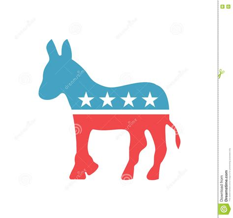 democratic symbol and color vector democratic emblem democratic icon in