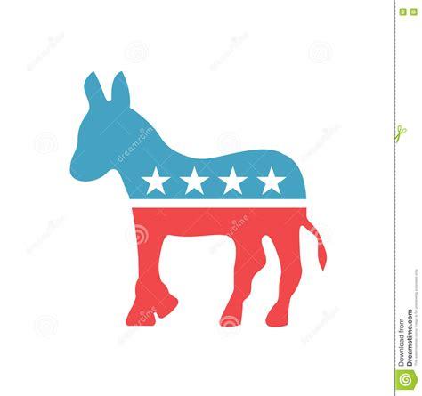 democratic color vector democratic emblem democratic icon in