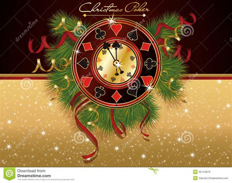 christmas poker casino banner stock photo image 35144970