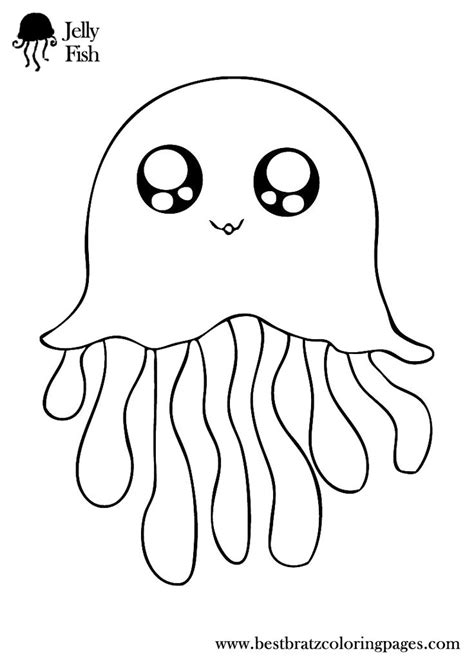 Jellyfish Coloring Pages   Bratz Coloring Pages