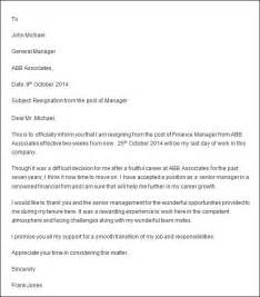 Exle Letter Of Resignation Professional by Professional Resignation Letter Sle