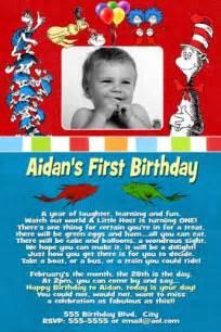 dr seuss first 1st birthday invitation dr seuss first 1st flickr