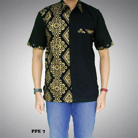 Baru Kemeja Batikbatik Pria Modernhem Batik Kanaya Pendek Hitam 2 100 gambar batik pria kombinasi dengan 30 model baju batik pria kombinasi terbaru 2017