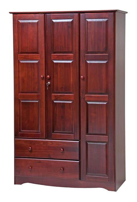 Wardrobe Closet With Lock Palace Imports Grand Solid Wood Locking Wardrobe Closet Armoire With 2 Drawers And 4 Shelves In