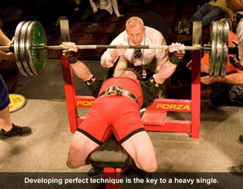 powerlifting bench press technique increase your bench press max with heavy singles muscle