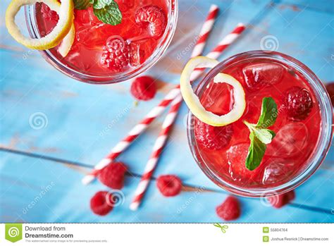 Raspberry Colorful two colorful raspberry cocktails stock photo image 55804764