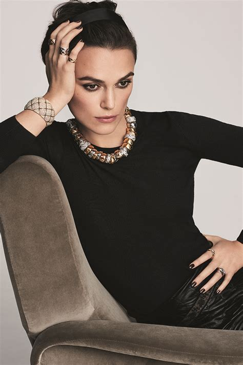 Vogue Uk Celebrates Keira Knightleys Coming Of Age In October 07 Issue by Keira Knightley Is The New Of Chanel Jewellery