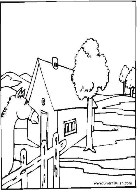 free farm coloring pages from sherriallen com