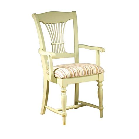 Kitchen Chair With Arms by Ivory Wooden Kitchen Chair With Tie Backrest Style Plus