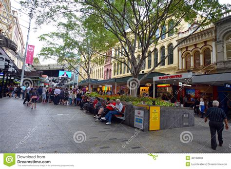 queen street mall brisbane queensland australia editorial
