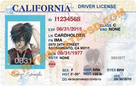 california id template psd template editable with adobe photoshop this is