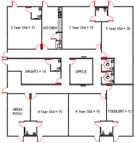 preschool floor plan template wilkins builders modular buildings for daycare and