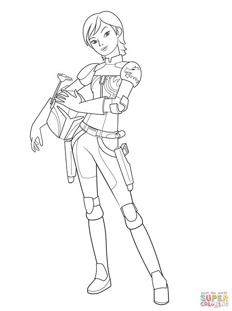 star wars ezra coloring page star wars rebel sabine wren kleurplaat gratis