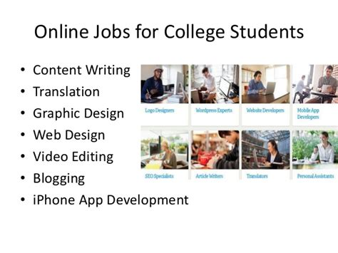 Online Design Jobs For Students | online jobs for college students
