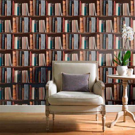 wallpaper that looks like bookshelves decoration library wallpaper looks like bookshelves