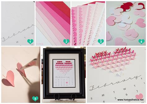 Diy Kitchen Wall Art Ideas Create This Smart And Beautiful Diy Heart Calendar In 5