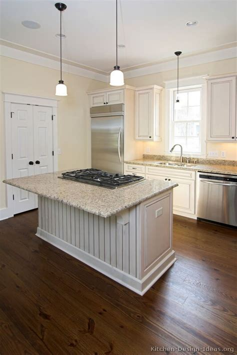 Kitchen Islands With Cooktops Pictures Of Kitchens Traditional White Antique Kitchens Kitchen 16