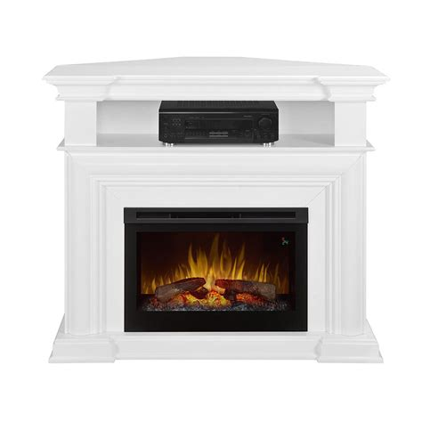 White Electric Corner Fireplace by Colleen Wall Or Corner Electric Fireplace Media Console In