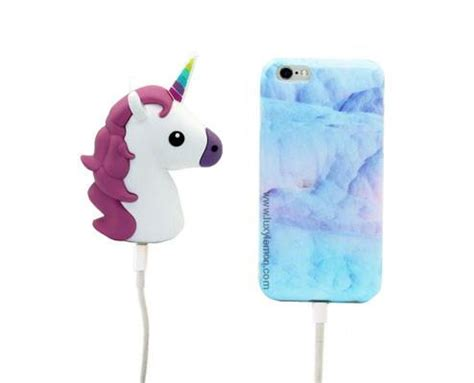 Powerbank Unicorn white unicorn power bank charger luxylemon