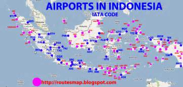 airports in indonesia map