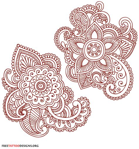 henna flower tattoos henna tattoos mehndi designs
