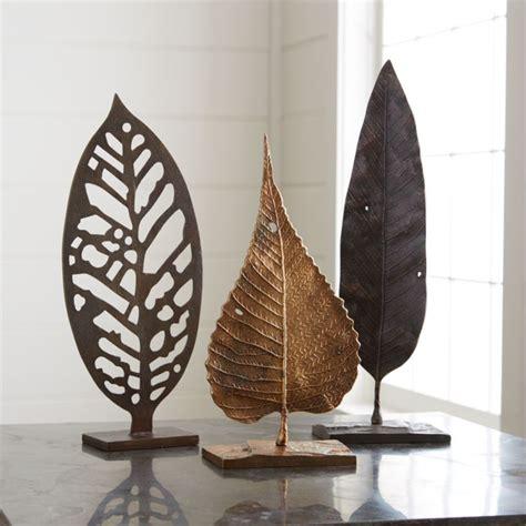 metal leaf sculptures crate  barrel