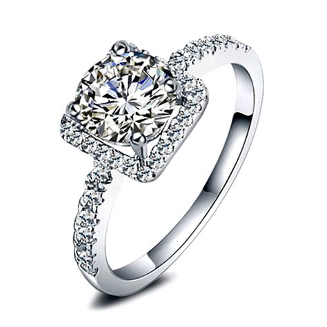 new womens exquisite white sapphire 925 silver filled