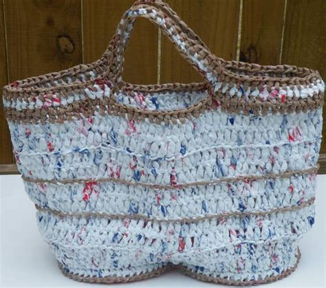 crochet pattern plastic bag tote crocheted quot plastic bag yarn quot totes yarn craft pinterest