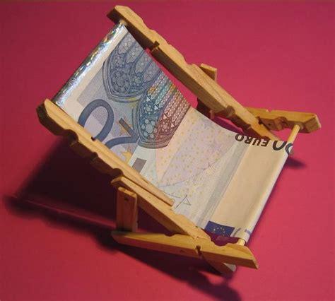 geld falten stuhl liegestuhl geldgeschenke verpacken witzige ideen zum