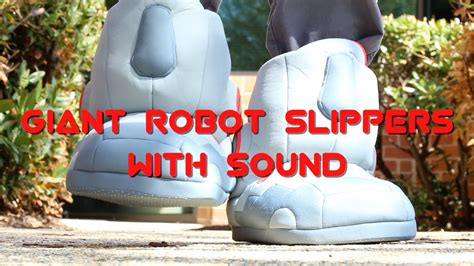 robot slippers with sound robot slippers with sound from thinkgeek