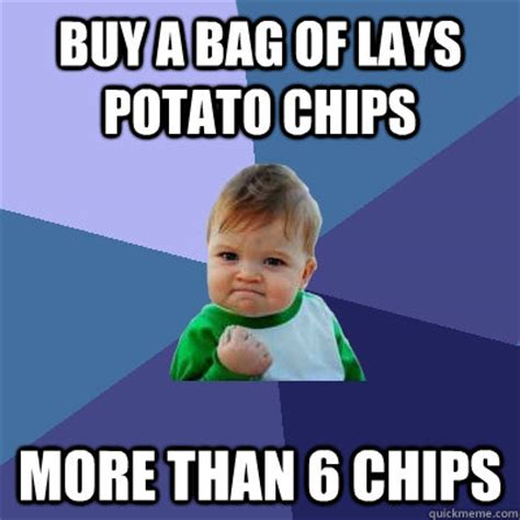 Lays Chips Meme - success kid memes quickmeme