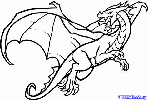 simple dragon coloring page draw a flying dragon dragon in flight step by step