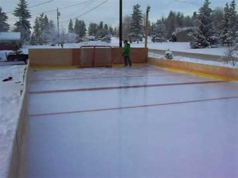 homemade backyard ice rink homemade ice rink quesnel 3 youtube