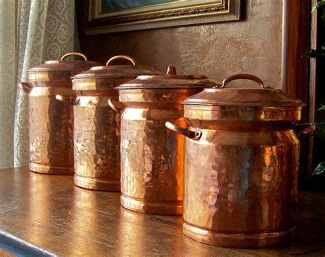 Copper Kitchen Canister Sets by Vintage Turkish Copper Canister Set Beautiful Copper