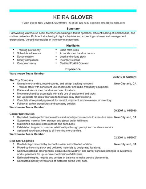 Resume Samples For Machine Operator by Team Members Resume Examples Production Resume Samples
