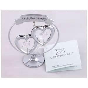 25th wedding anniversary ornament crystocraft keepsake gift ornament 25th silver wedding anniversary with swarvoski