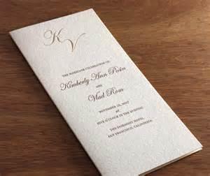 Wedding program wording wedding program with gold