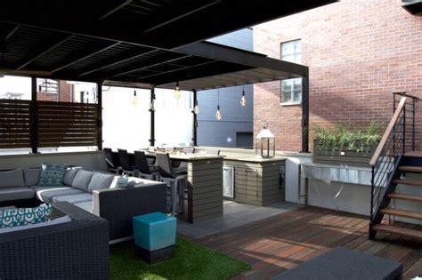 chicago roof decks pergolas  patios urban rooftops