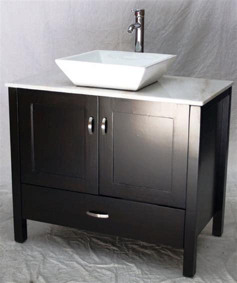 36 inch vessel sink vanity 36 inch bathroom vanity rectangular vessel sink top style