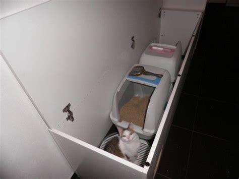 Hide Two Large Litter Boxes In A Reclaimed Ikea Cabinet Litter Box Cabinet Ikea