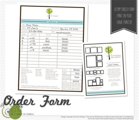 south hill design order form 17 best images about order forms on pinterest clean mama